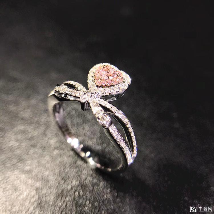 回收粉红色钻石戒指